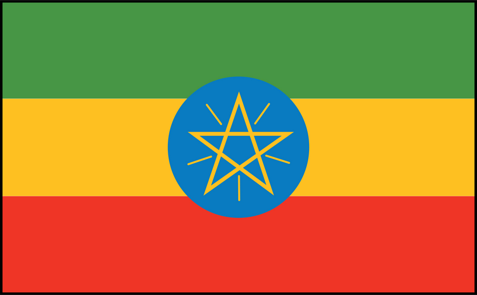 Image of Ethiopia flag